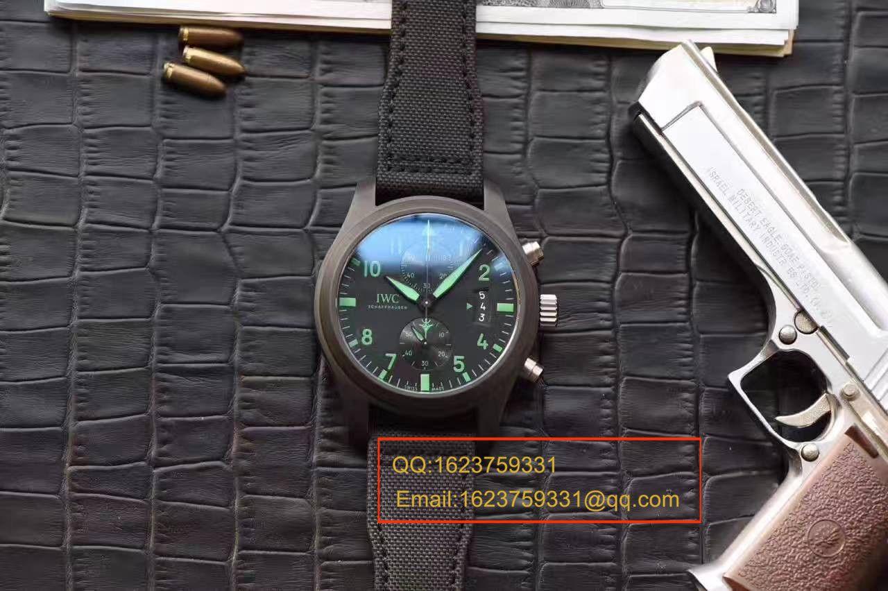 【HBBV6厂1:1复刻手表】万国飞行员系列TOP GUN海军陆战队专用IW388003绿色特别版腕表 / WG080