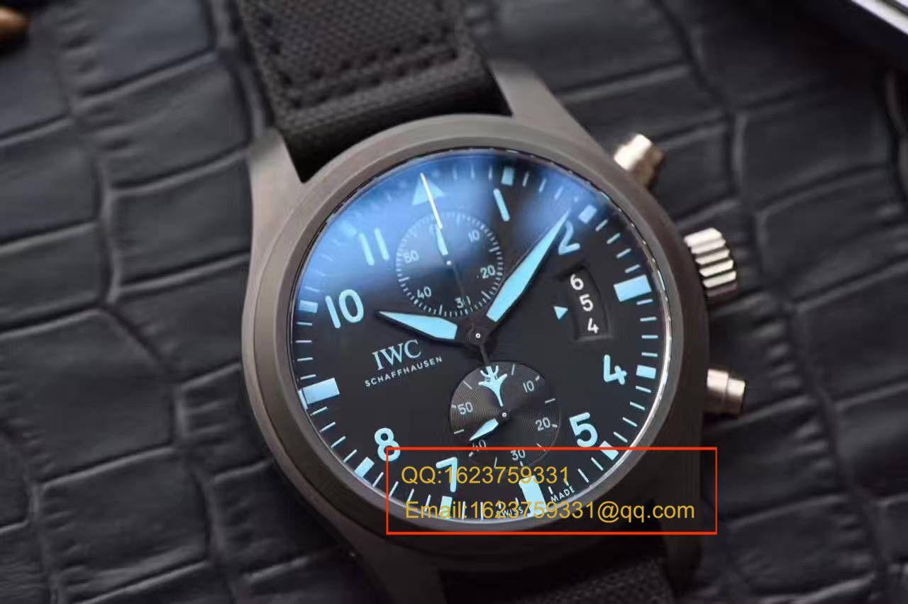 【独家视频测评复刻手表】万国TOP GUN海军空战部队MIRAMAR腕表IW388003陶瓷飞计 / WG23201