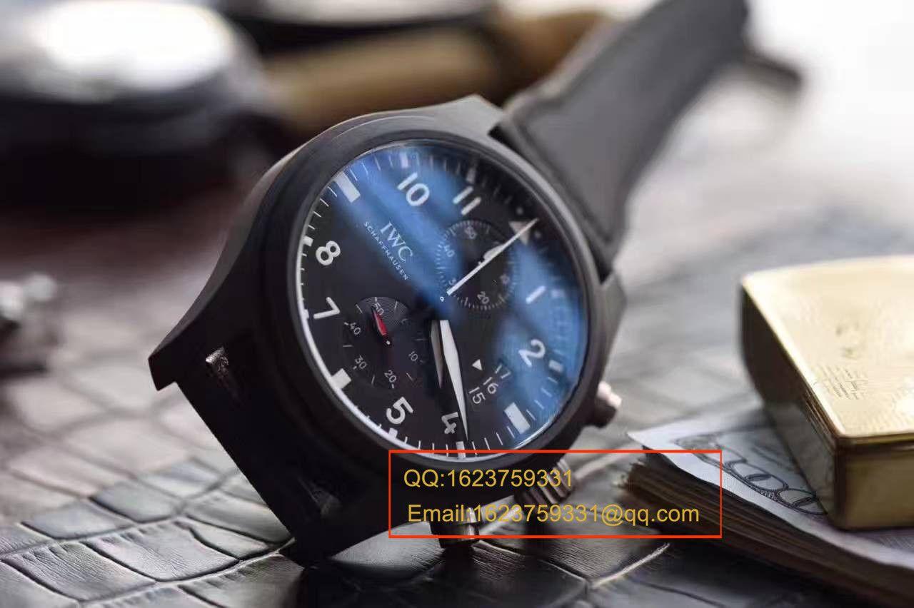 【独家视频测评V6厂1:1超A高仿手表】万国 大型飞行员系列TOP GUN 海军空战部队万年历腕表系列IW388007腕表