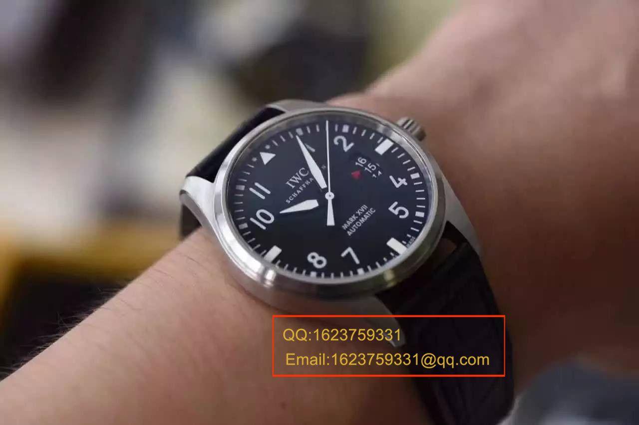 【MK厂1:1超A精仿手表】万国飞行员系列PILOT'S WATCH MARK XVII马克十七飞行员IW326501腕表