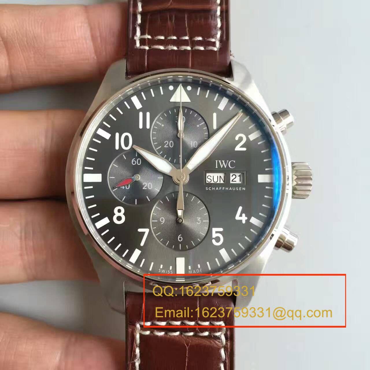 【ZF厂一比一复刻手表】万国CHRONOGRAPH飞行员系列IW377719腕表 皮带款 / WG136