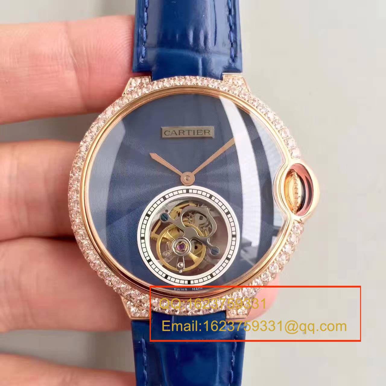 【TF厂一比一精仿手表】卡地亚CARTIER 蓝气球系列 扭索雕纹表盘 W6920105女士陀飞轮腕表