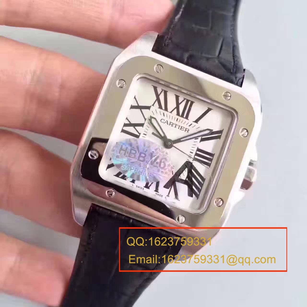 【HBBV6厂一比一复刻手表】卡地亚山度士100系列 W20073X8 男士机械手表