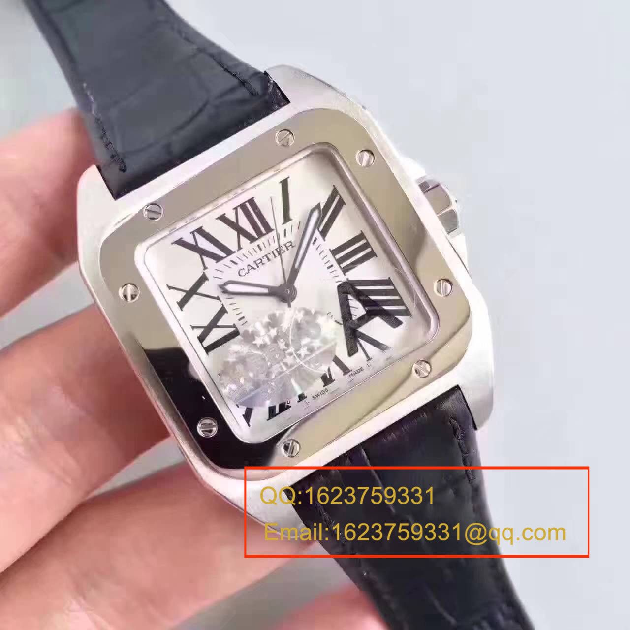 【HBBV6厂一比一复刻手表】卡地亚山度士100系列 W20073X8 男士机械手表 / KDY081