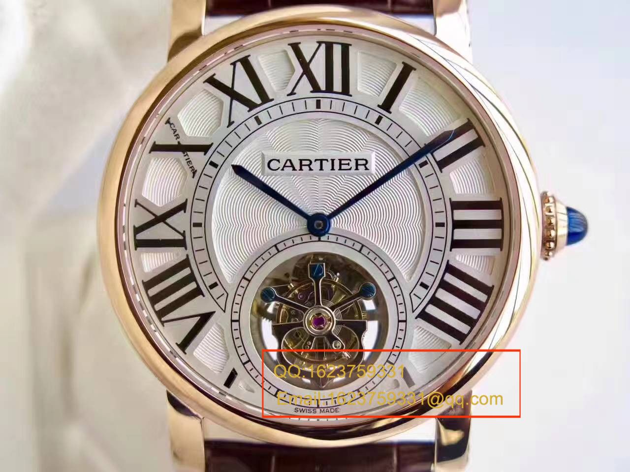 【BL厂一比一复刻手表】卡地亚ROTONDE DE CARTIER系列W1556215陀飞轮腕表 / KCI115