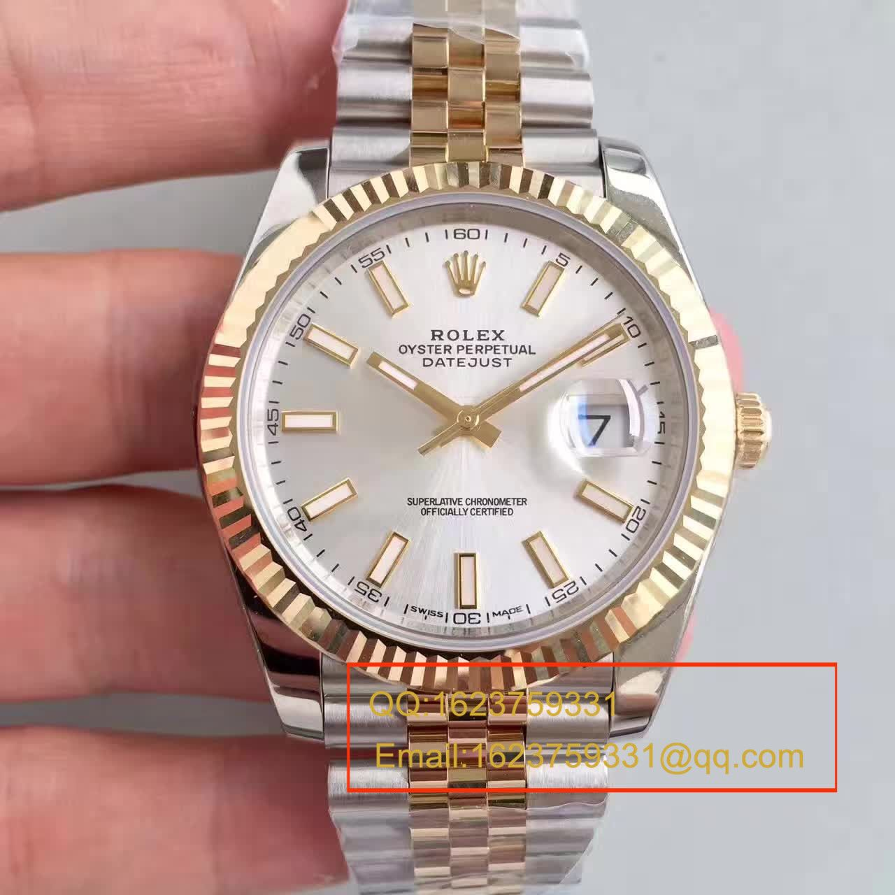 【NOOB厂1:1超A高仿手表】劳力士日志型系列126303白盘腕表 包18K真金 / RCF155