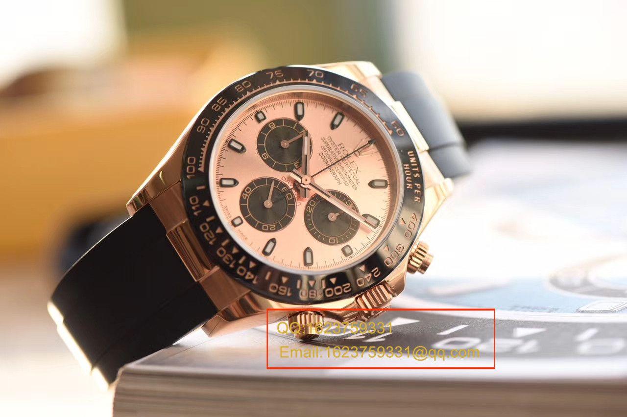 【独家视频测评JF厂1:1顶级复刻手表】劳力士宇宙计型迪通拿系列116515LN粉盘腕表 / RBC149