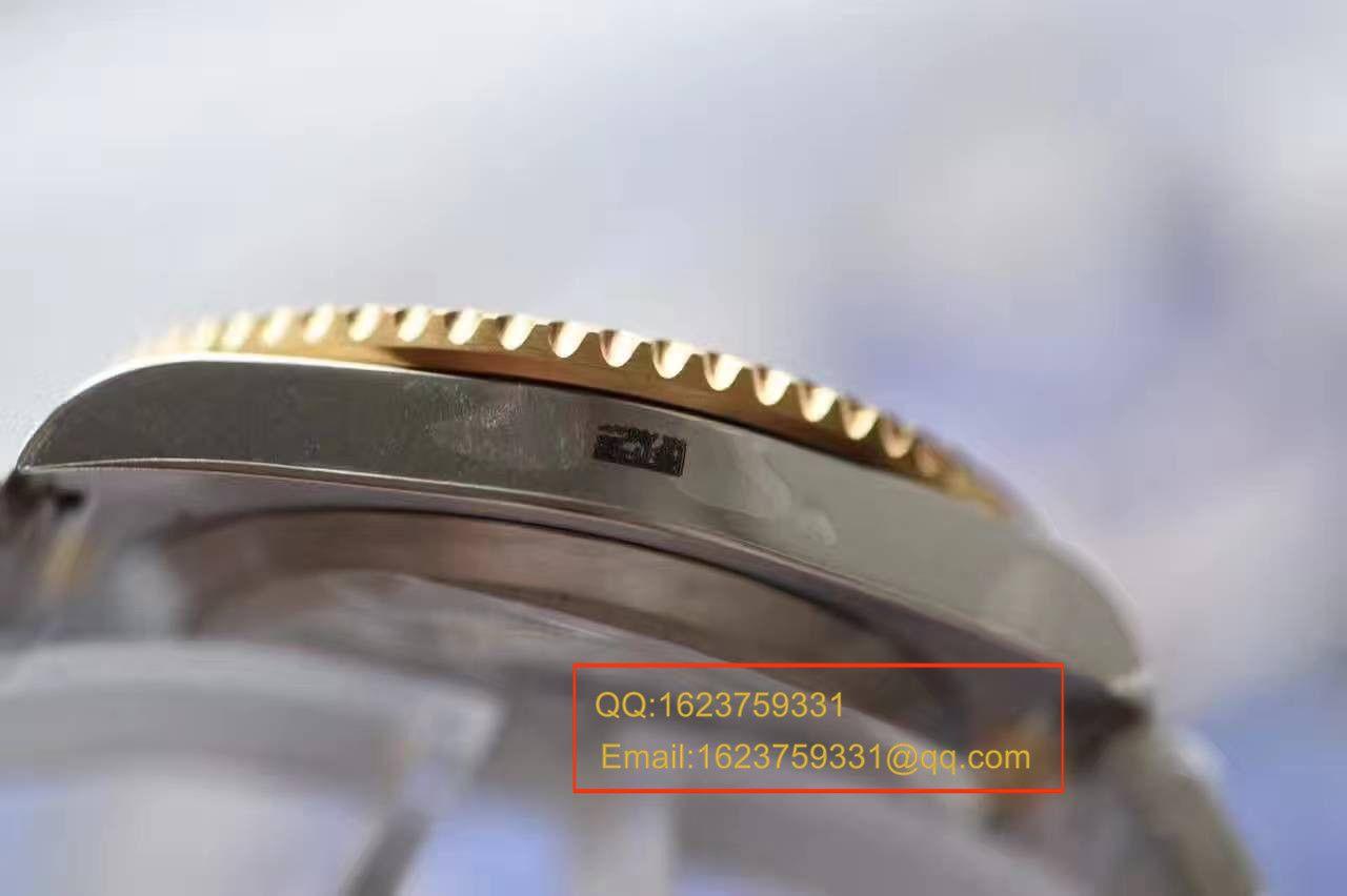 【独家视频测评JF厂1:1超A高仿手表】劳力士潜航者型系列116613LB-97203间金蓝金水鬼腕表 / RBG157