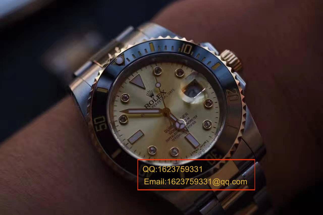 【NOOB厂V7版顶级复刻手表】劳力士潜航者型系列116610LN金盘腕表《包真18K金版》 / RCF142