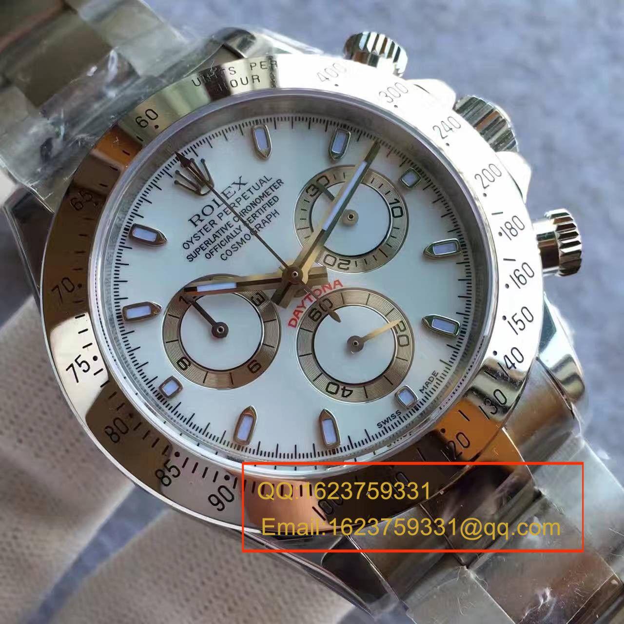 【JF一比一超A高仿手表】劳力士宇宙计型迪通拿系列116520-78590 白盘腕表(白钢迪通拿) / R019