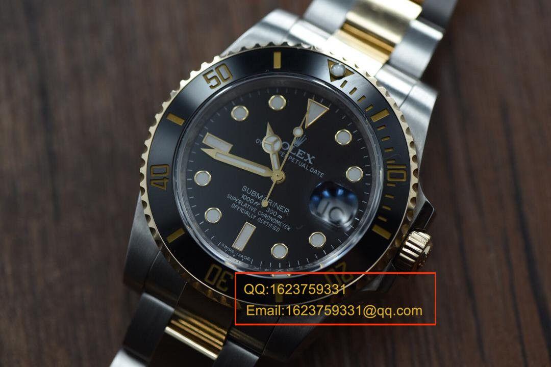 【视频解析】N厂V7版1:1复刻手表之劳力士潜航者型116612-LN-97203《18K真金版》 / RCF125