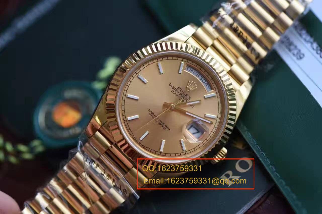 【EW厂1:1顶级复刻手表】劳力士星期日历型系列228238香槟色表盘腕表 / RBA120