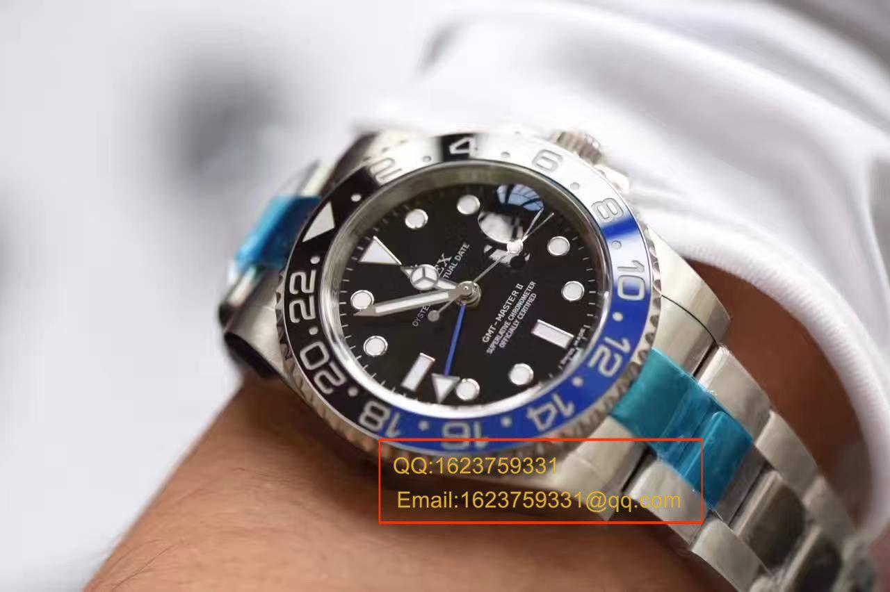 【N厂一比一复刻手表】V7版劳力士格林尼治型II系列116710BLNR-78200机械腕表