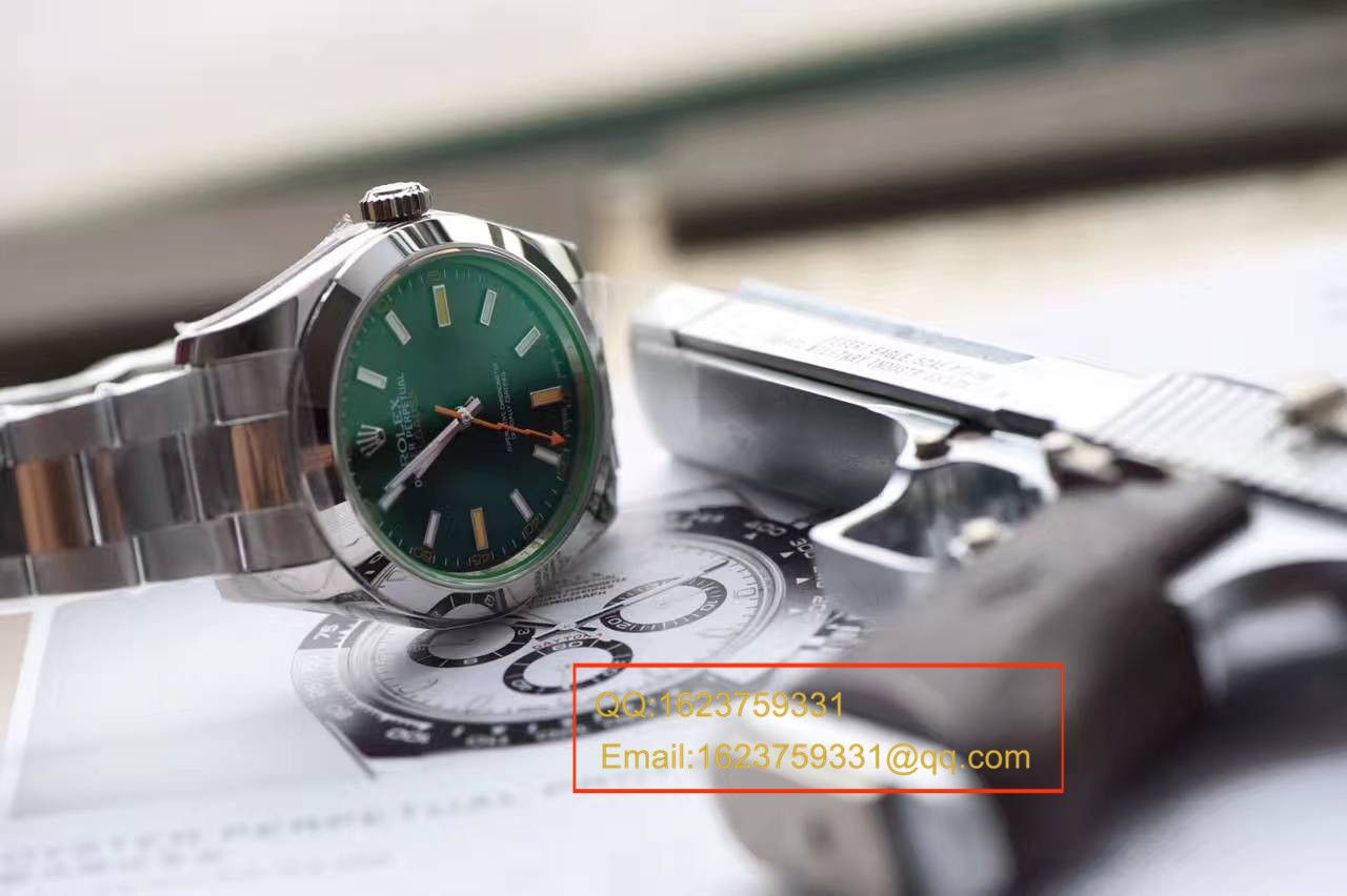 【N厂一比一超A精仿手表】劳力士闪电闪电绿玻璃MILGAUSS 116400 最高版本 / RBA186