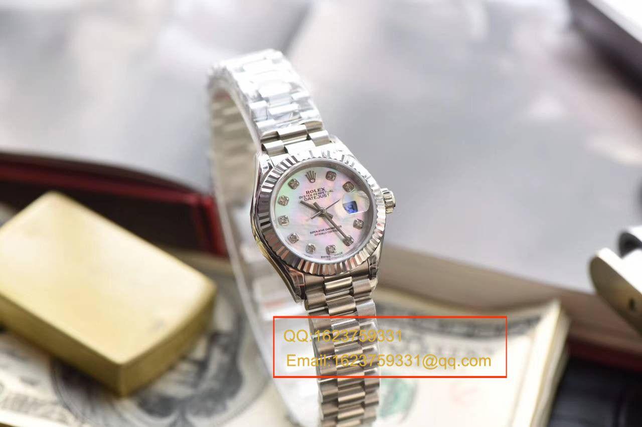 【SY最高品质1:1超A高仿手表】劳力士女装日志型系列279136RBR女士机械腕表 / RB0156