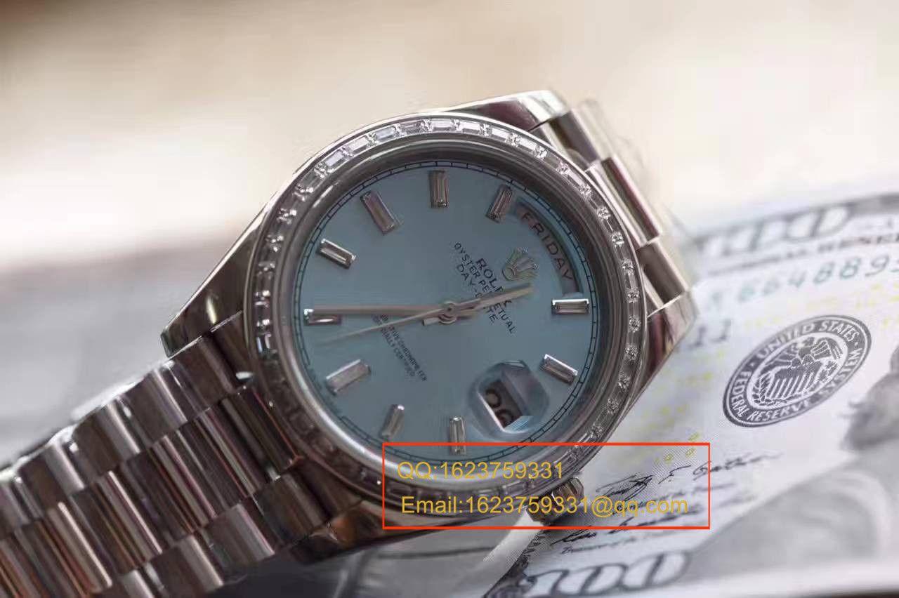 【EW厂1:1复刻手表】劳力士星期日历型系列228396TBR蓝盘腕表 / R153