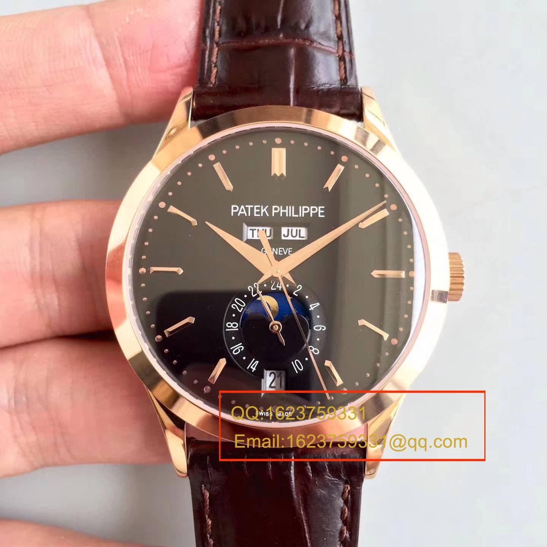 【台湾厂复刻腕表】百达翡丽复杂功能计时系列5396/1R-001 月相皮带款玫瑰金腕表 / BD209