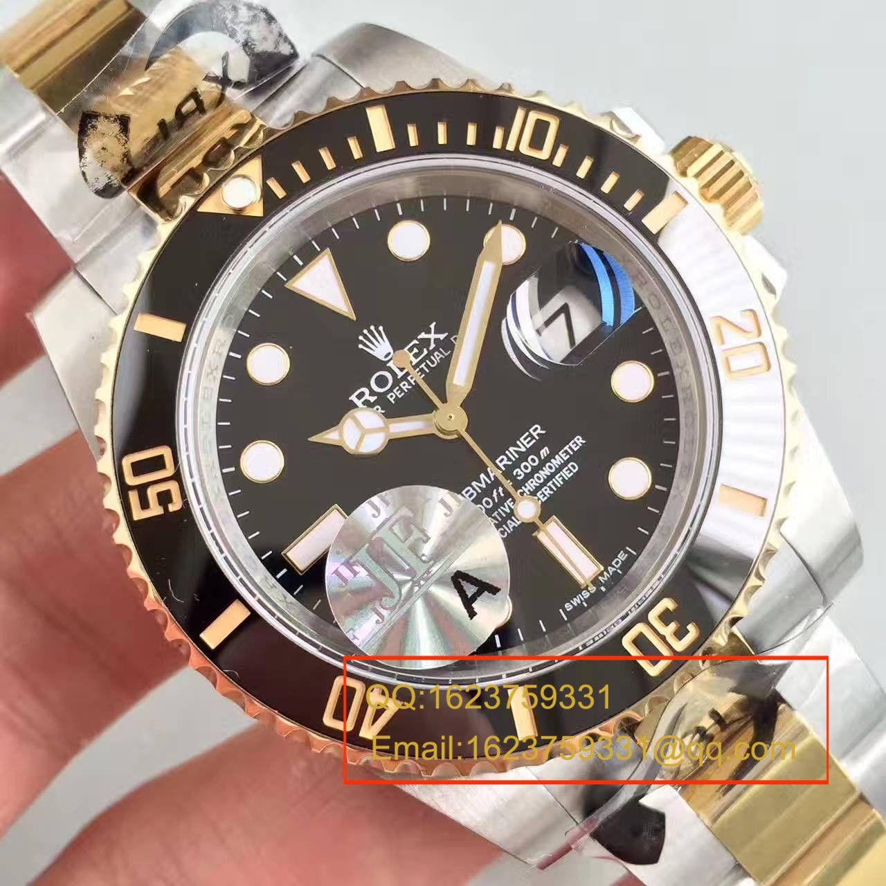 【JF厂顶级复刻手表】劳力士潜航者型系列116613-LN-97203间金水鬼腕表 / RBG029