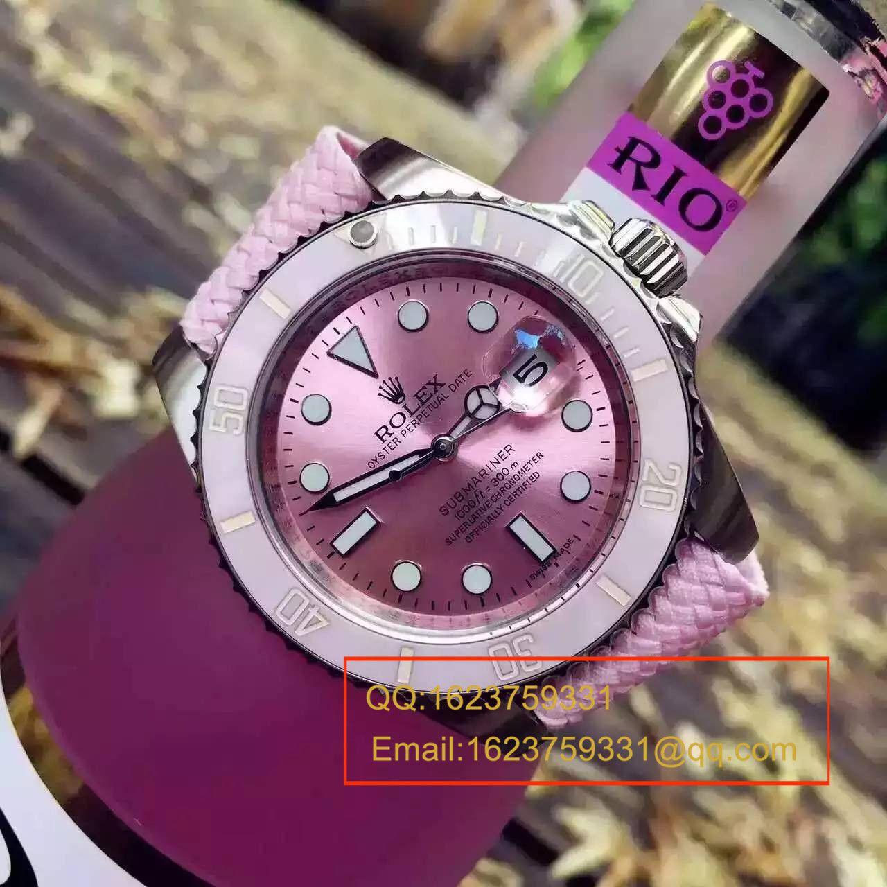 【NOOB厂1:1顶级复刻手表】劳力士潛航者型系列116610LN 银盘《SUB粉水鬼》女款腕表