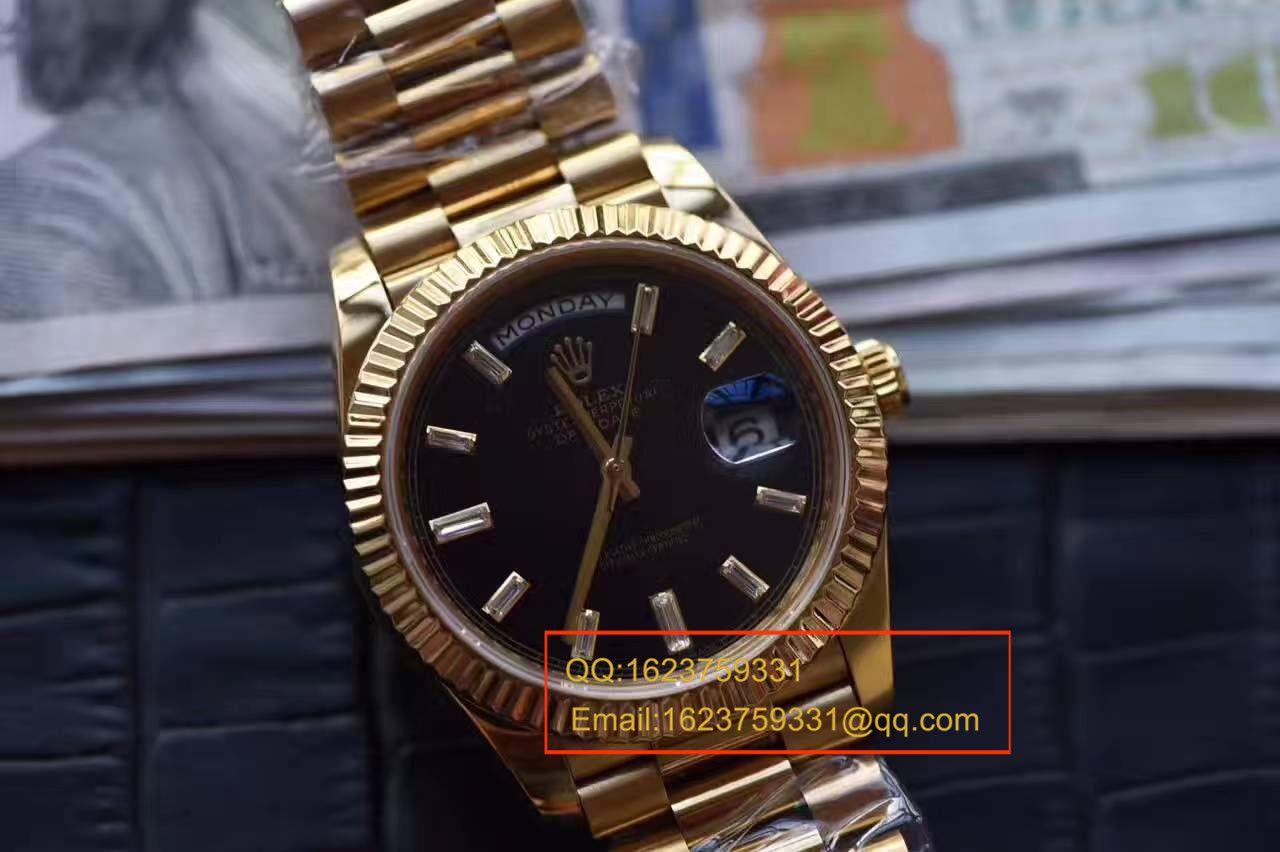 【台湾厂一比一超A高仿腕表】劳力士星期日历型系列228238黑色表盘 / RBA176