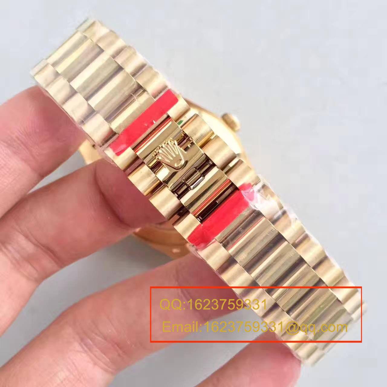 【N厂一比一复刻手表】劳力士星期日历型系列228238金盘腕表 / RBE169