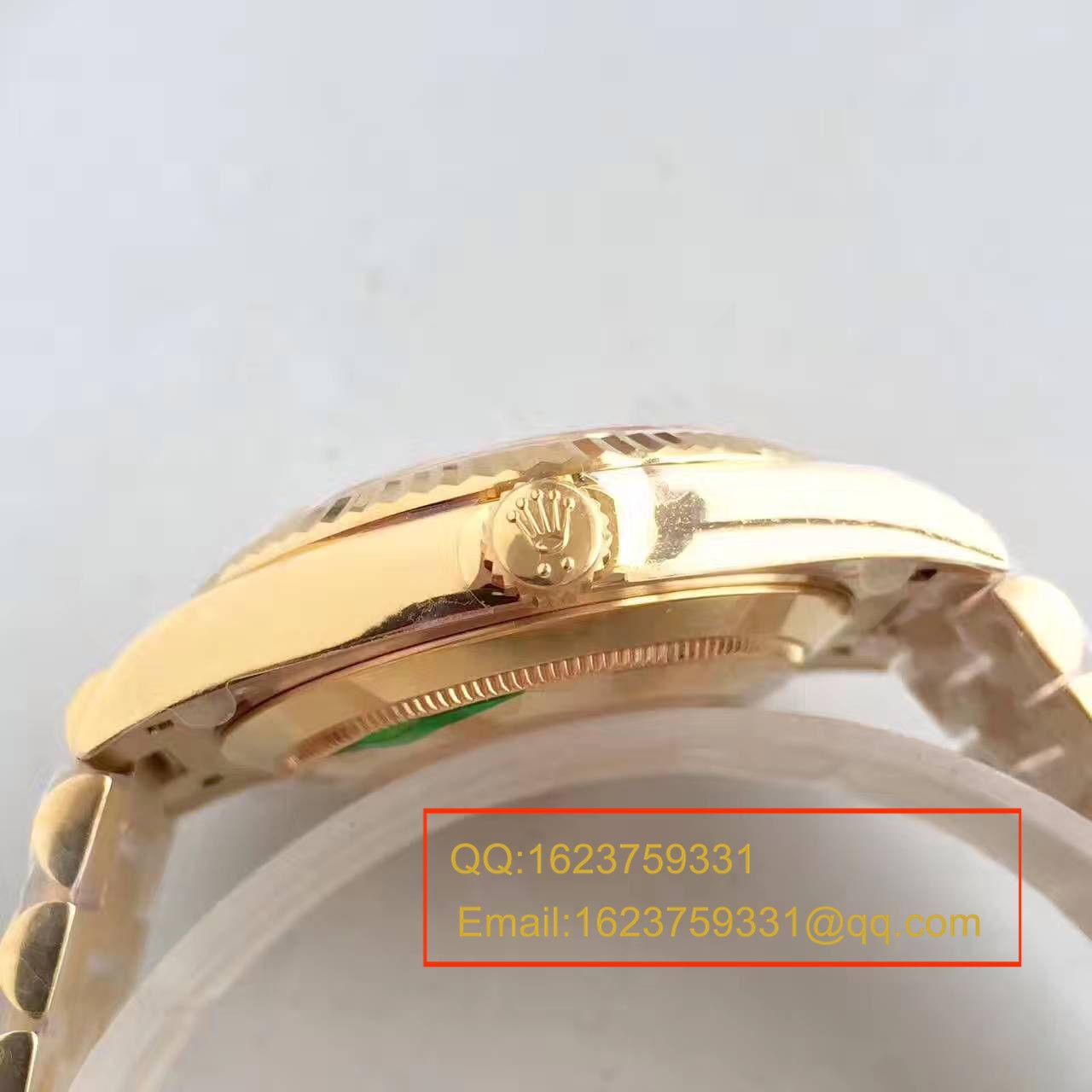 【N厂一比一精仿手表】劳力士星期日历型系列218238-83218 香槟色表盘腕表 / RBE168