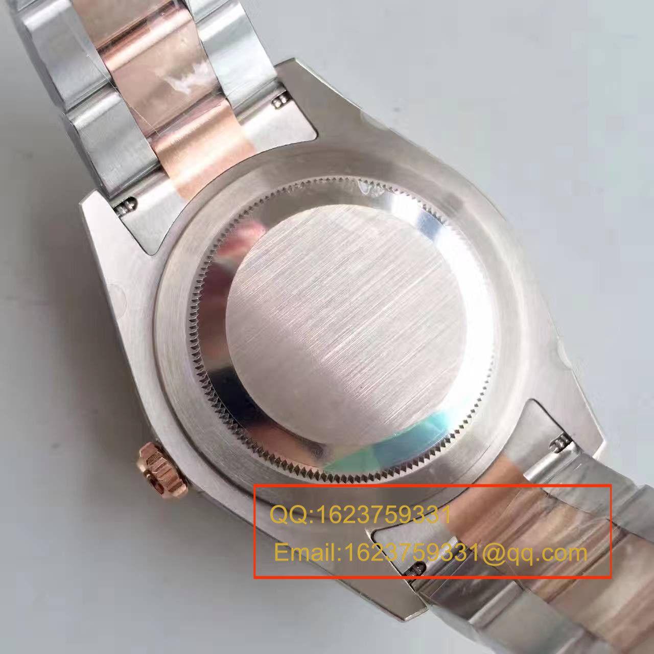 【NOOB厂一比一高仿手表】劳力士日志型系列126331粉盘镶钻腕表 / R164