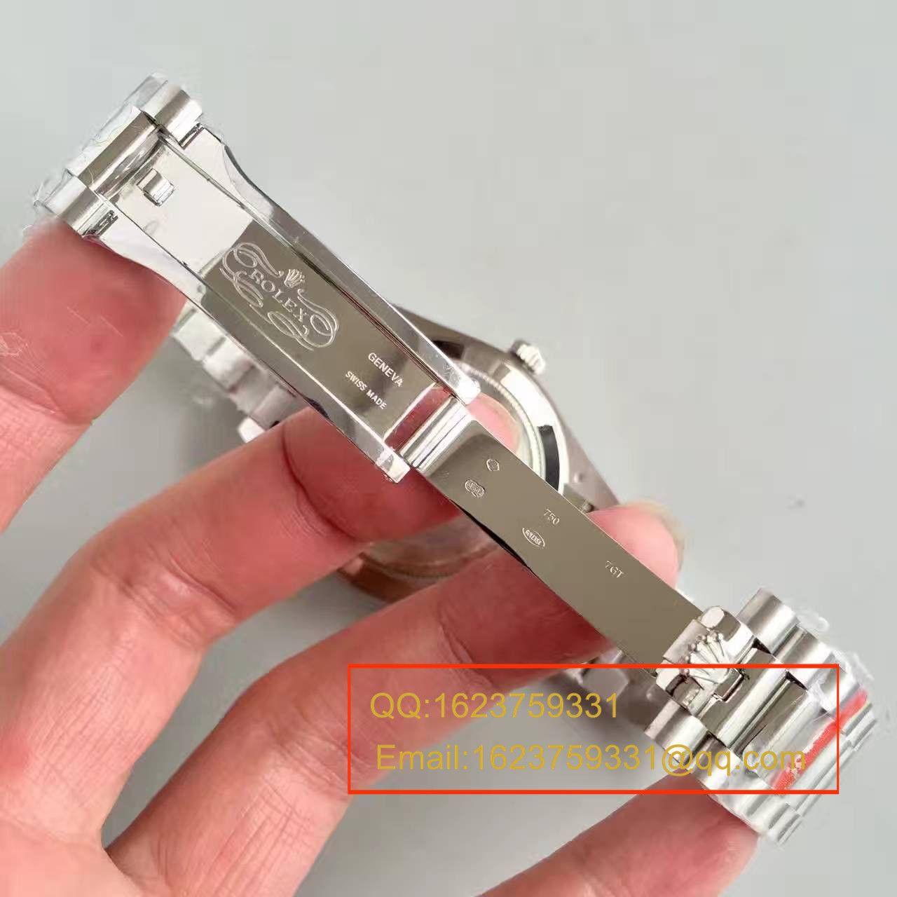 【N厂一比一超A精仿手表】劳力士星期日历型系列228206冰蓝暗纹盘男士机械腕表 / RBE067