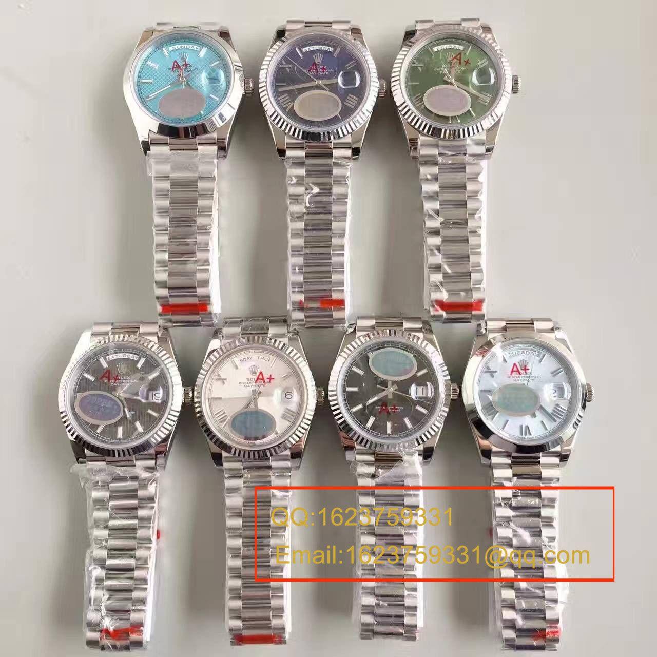 【NOOB厂超A精仿手表】劳力士星期日历型系列228239-黑盘腕表 / RBE070