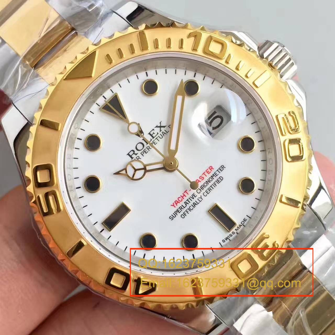 【JF厂一比一超A复刻手表】劳力士游艇名仕型系列16623-78763白盘男士机械腕表 / R097