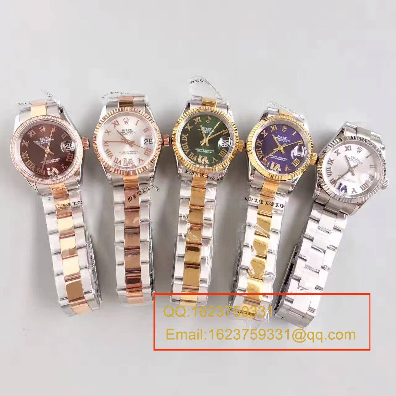 【台湾厂超A精仿手表】劳力士 女装日志型31系列178243-72163腕表  / RAG025