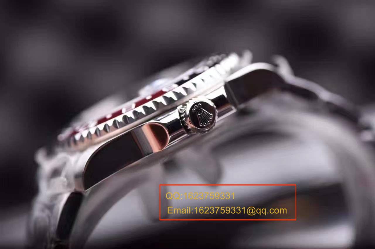 【独家视频评测顶级复刻高仿表】JR劳力士格林尼治型II系列116719-BLRO可乐圈男士机械手表