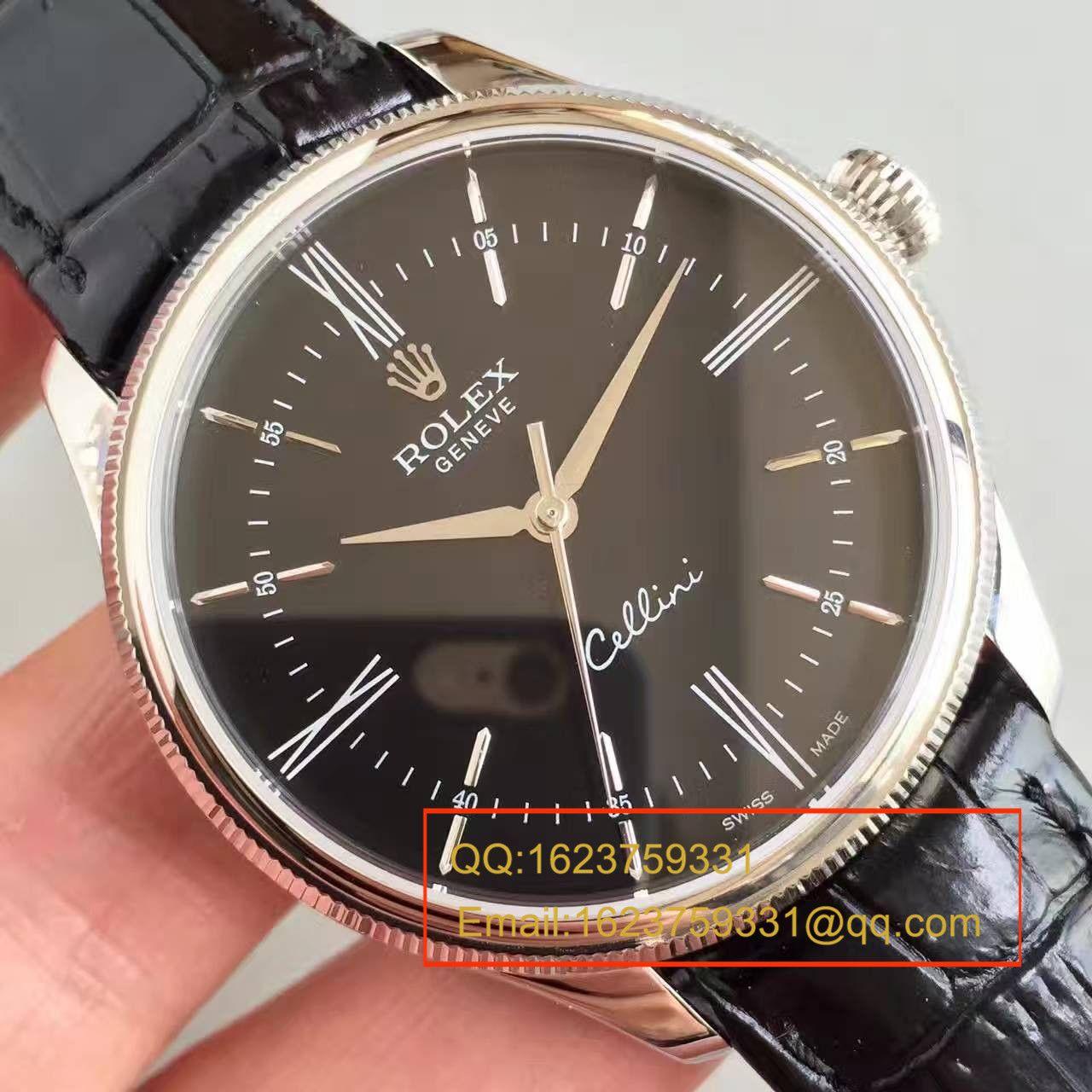 【MK一比一超A高仿手表】劳力士切利尼系列50509黑盘黑带机械腕表 / R079