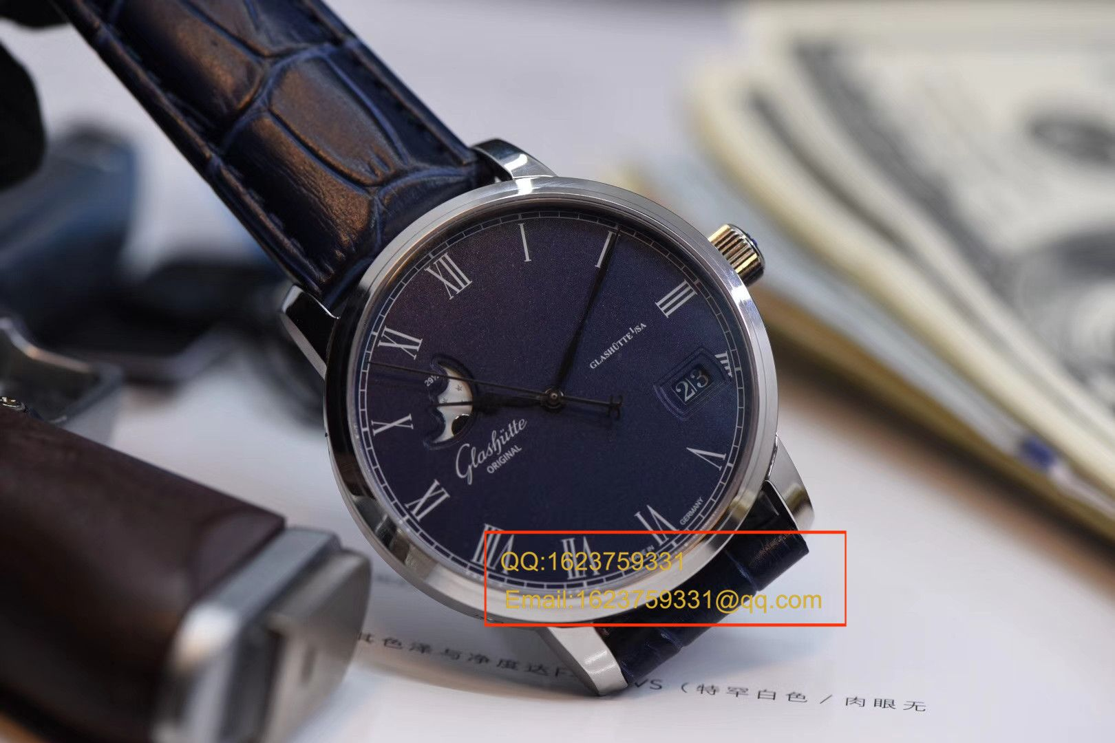 【GF厂一比一顶级复刻手表】格拉苏蒂原创精髓议员大日历月相系列100-04-05-12-30腕表 / GLAB016