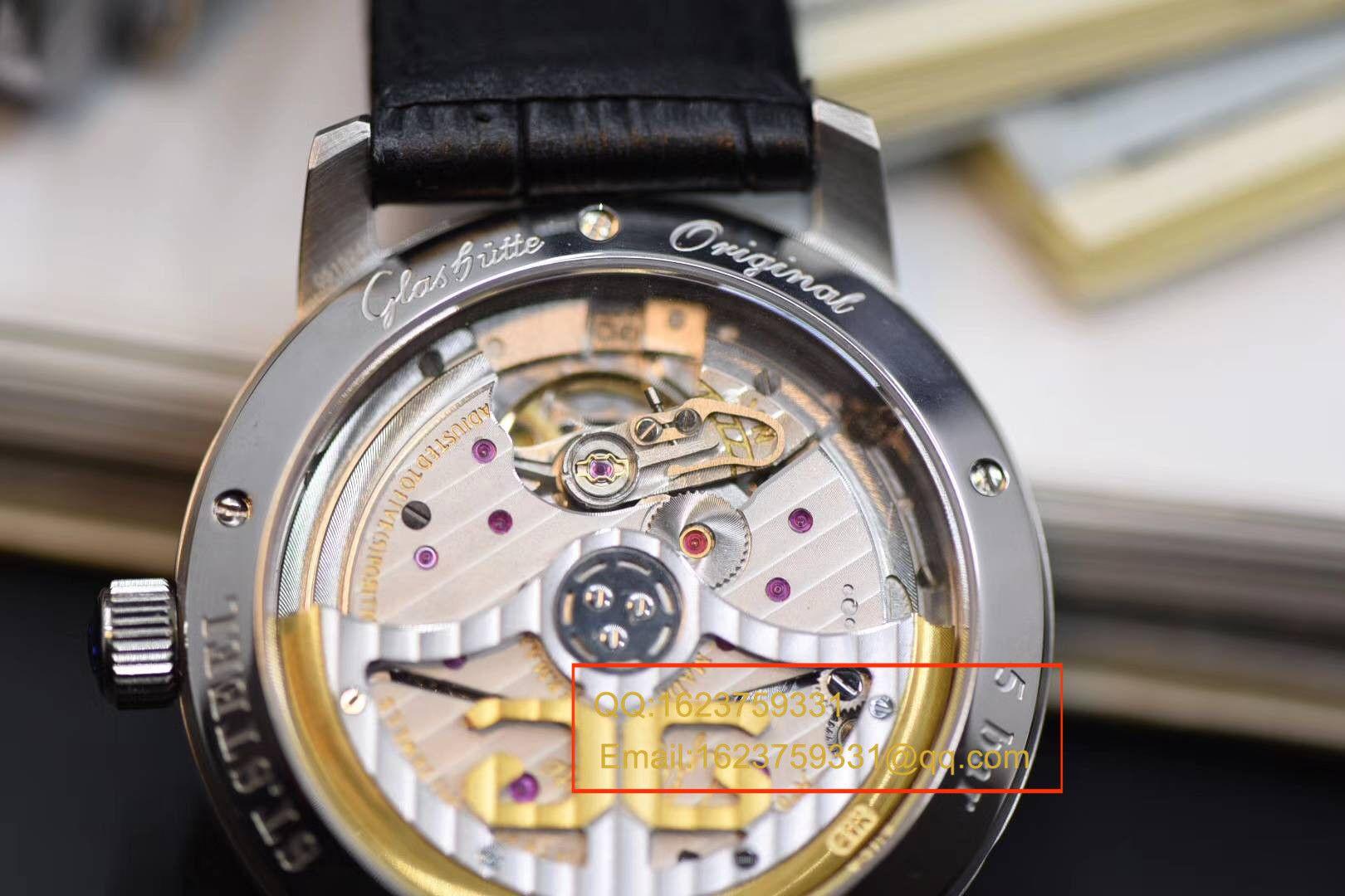 【GF1:1超A高仿手表】格拉苏蒂原创精髓议员大日历月相系列100-04-05-12-30腕表