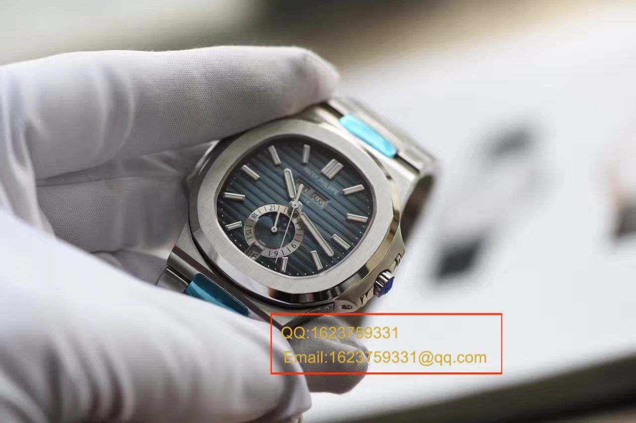 【KM厂顶级高复刻手表】百达翡丽运动系列鹦鹉螺月相5726/1A腕表 / BDBE199