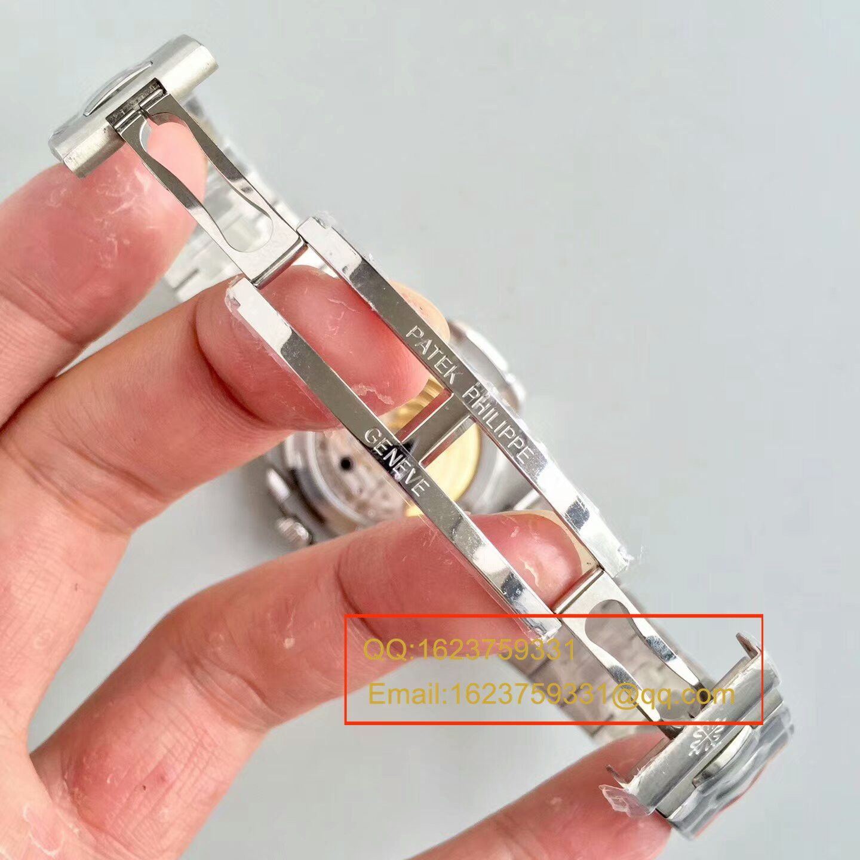 【PF一比一超A高仿手表】百达翡丽运动系列5711G 白金腕表钢带款(鹦鹉螺) / BDBC201