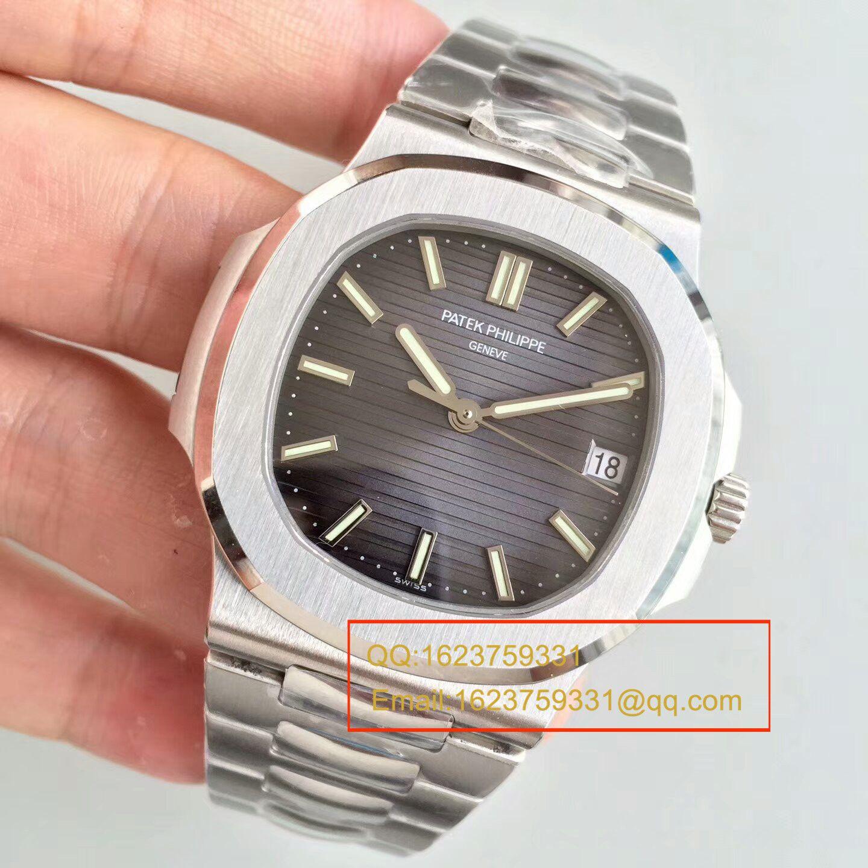 【PF一比一超A高仿手表】百达翡丽运动系列5711G 白金腕表钢带款(鹦鹉螺)