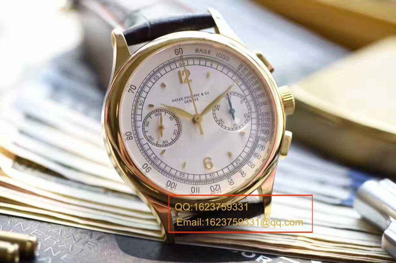 【独家视频测评台湾一比一超A高仿手表】百达翡丽复杂功能计时系列5170J-001腕表