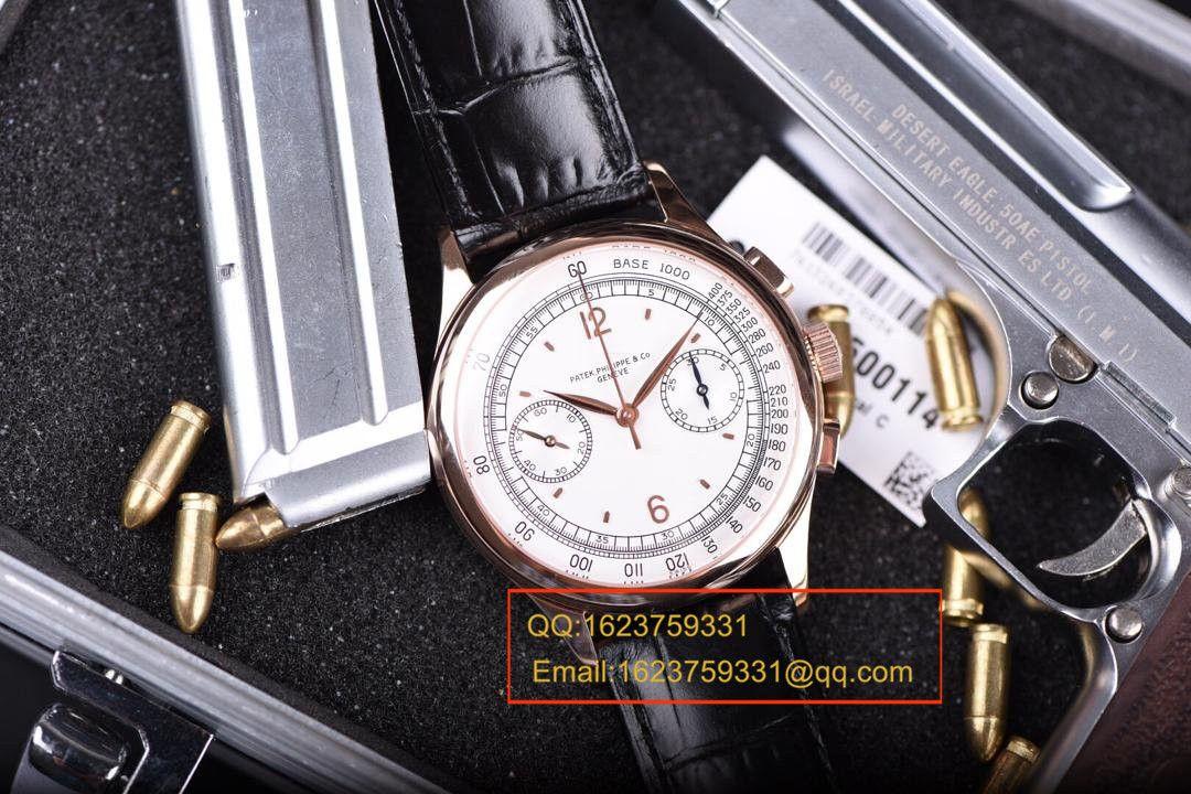 【独家视频测评1:1超A高仿手表】百达翡丽复杂功能计时系列5170R-001腕表 / BDAF164