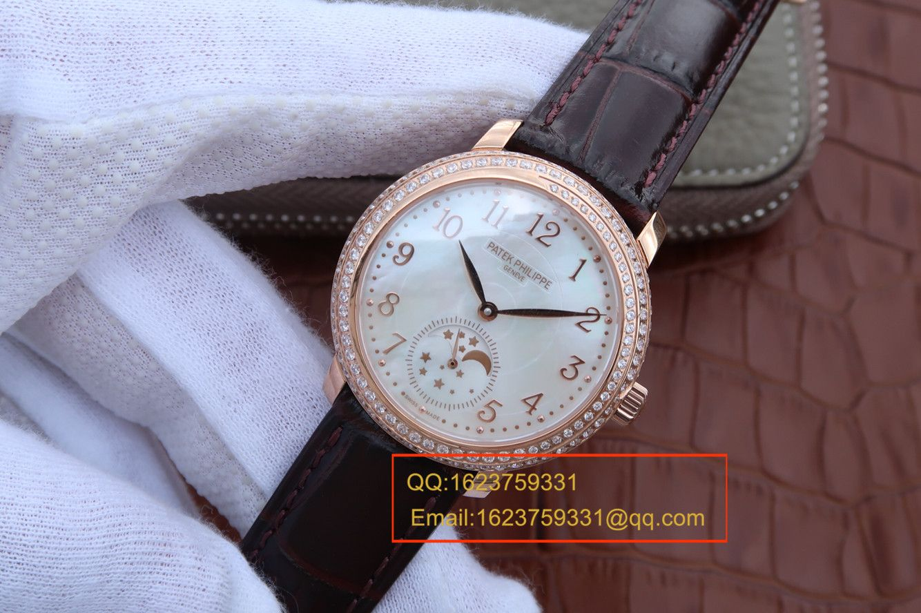 【KG一比一超A高仿手表】百达翡丽复杂功能计时系列4968R-001 玫瑰金女士腕表
