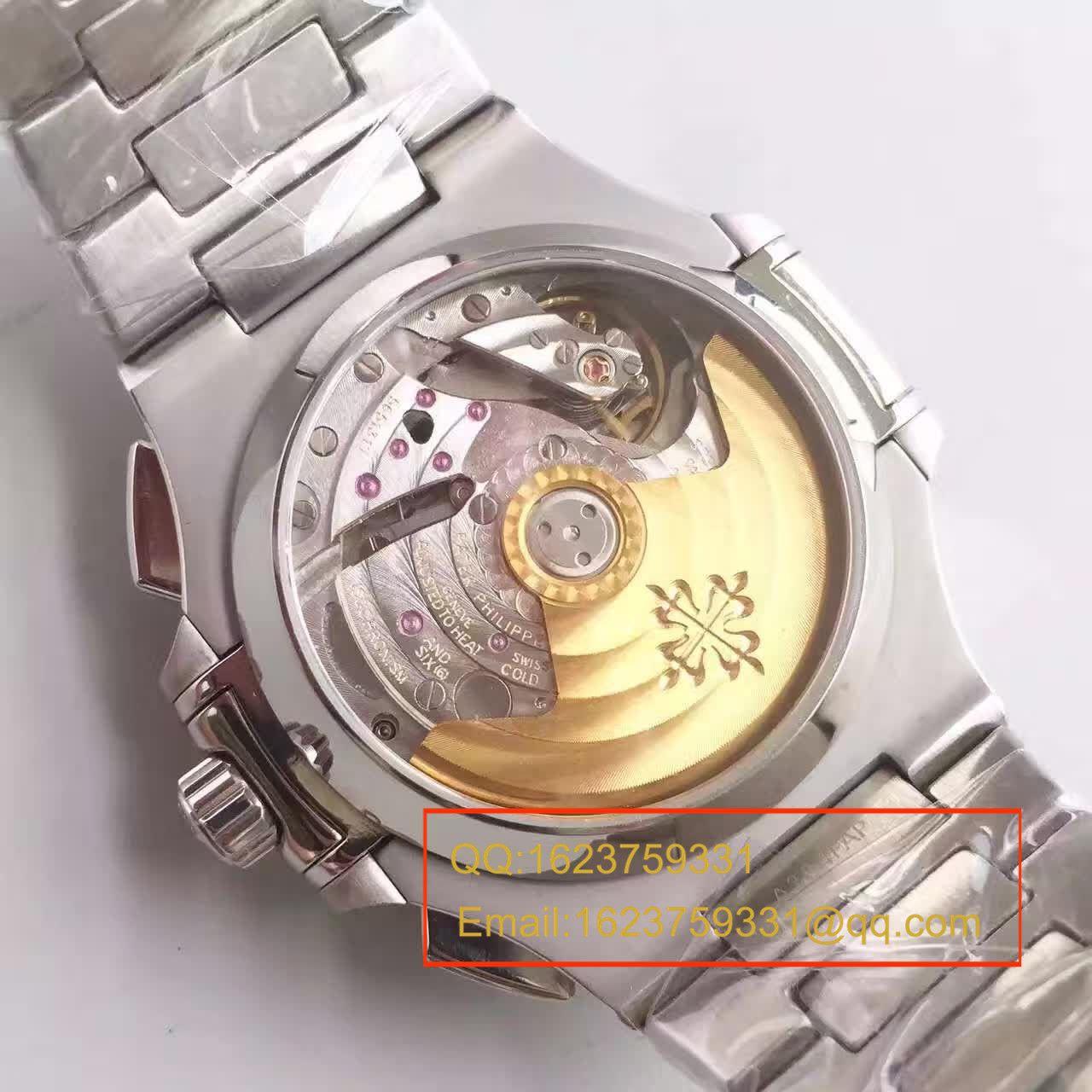 【BP厂超A精仿手表】百达翡丽-Nautilus鹦鹉螺运动系列5980/1A-001机械男表 / BD161A