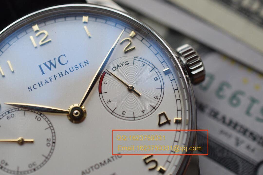 【ZF厂超A1:1精仿手表】IW500114万国葡七V5版!同步专柜新葡七《万国七日链》