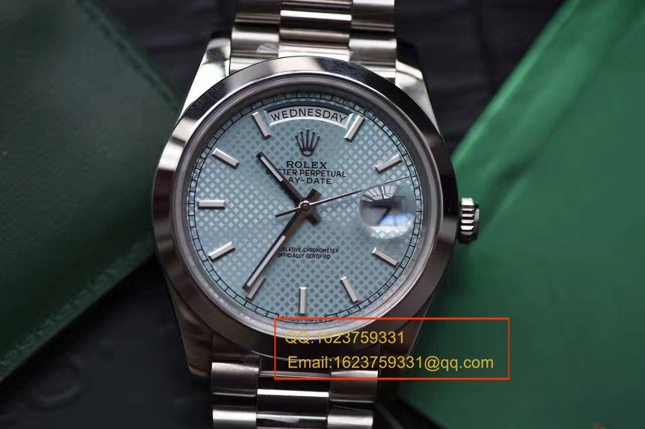 【实拍图鉴赏】EW厂1:1超A精仿手表之劳力士星期日历型系列228206-83416腕表 / R113A