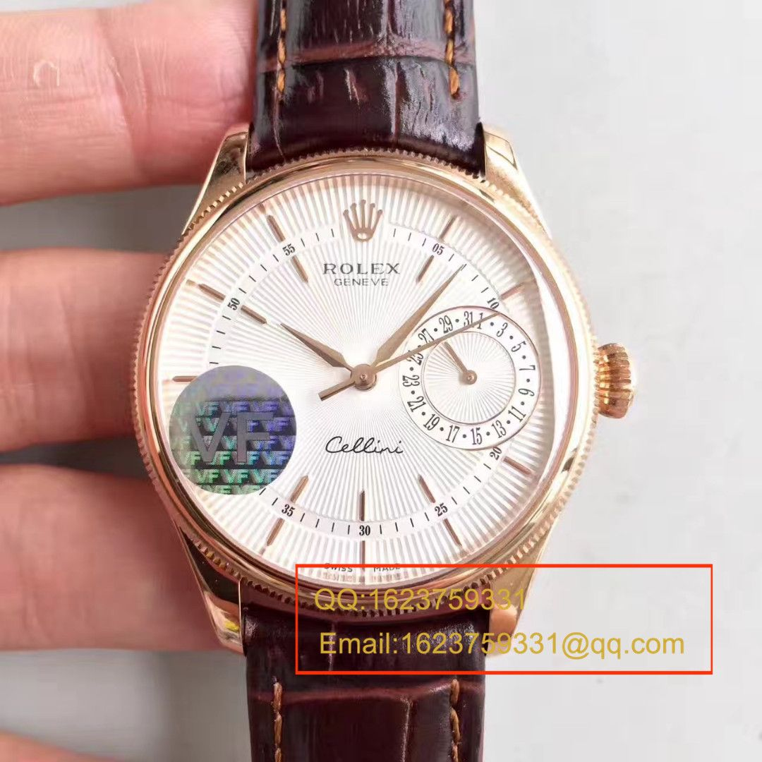 【VF厂一比一复刻手表】劳力士切利尼系列50519白盘/黑盘/玫瑰金四色可选腕表 / R152