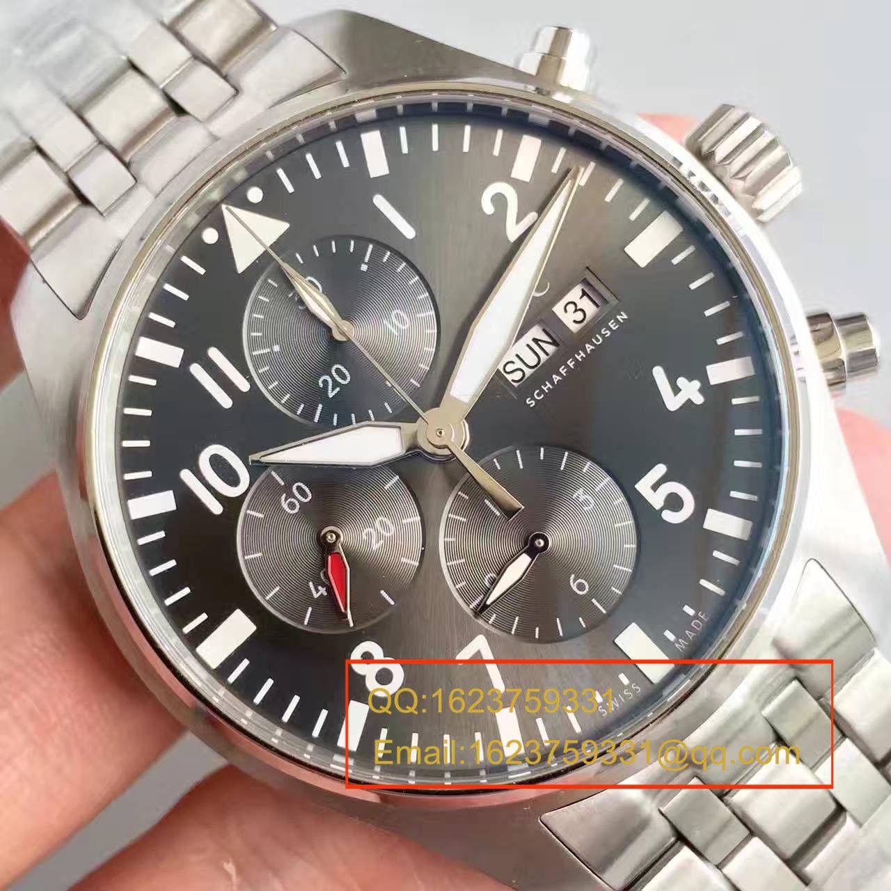 【ZF厂出品】万国飞行员系列  IW377719 喷火战机计时机械手表 / WG172