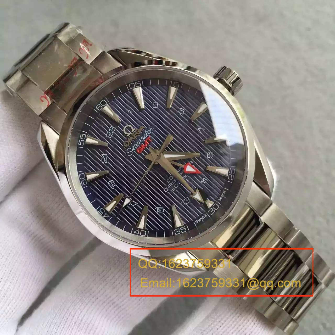【KW厂完美版】欧米茄海马系列231.10.43.22.03.001 GMT双时区机械腕表