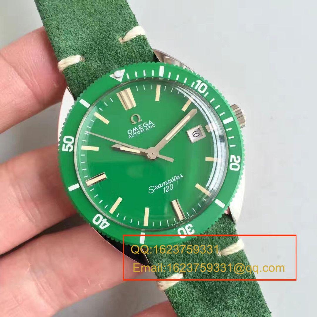 【台湾厂顶级复刻手表】欧米茄OMEGA海马复古系列120绿盘腕表 / M275