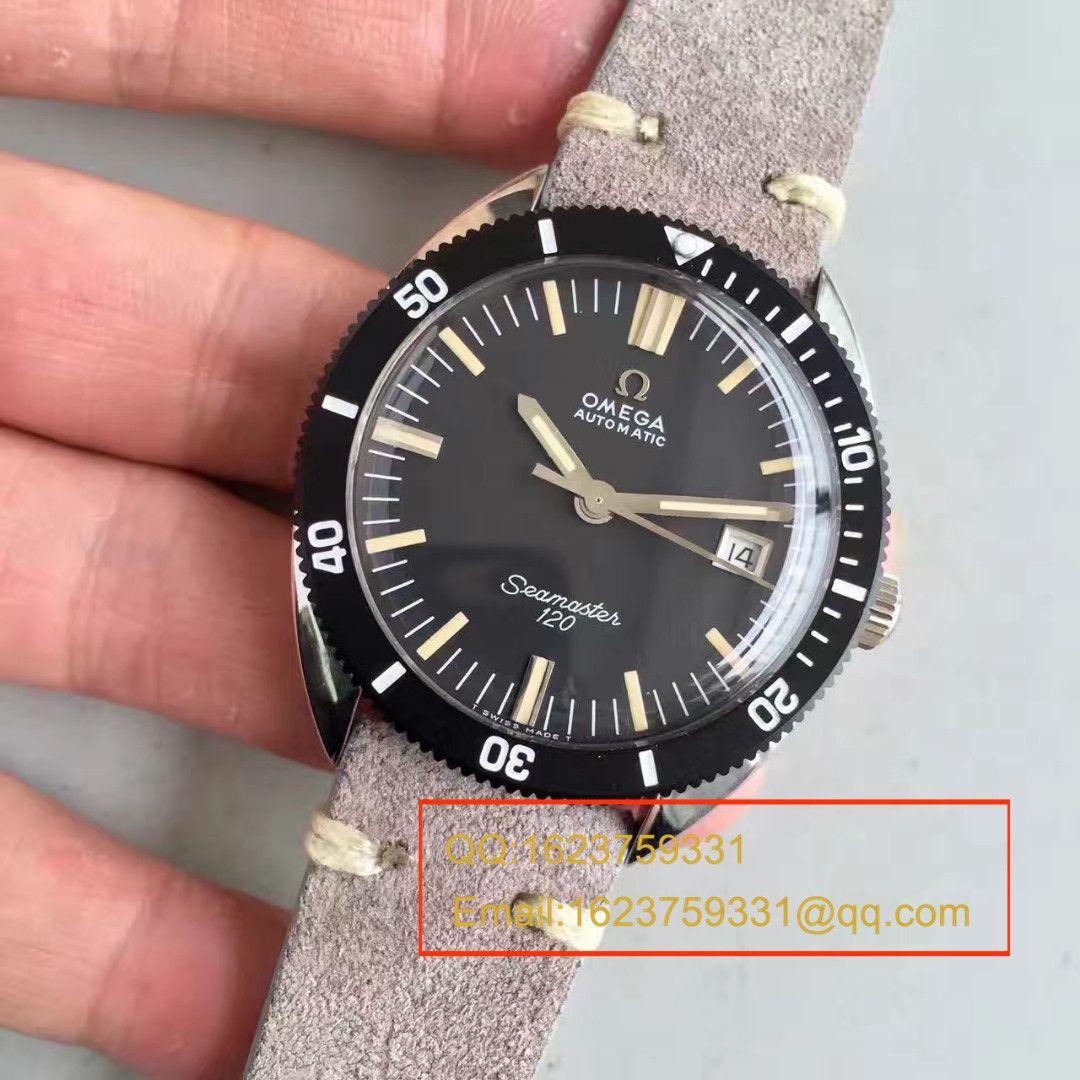 【台湾厂一比一精仿手表】欧米茄OMEGA海马复古系列120黑盘腕表