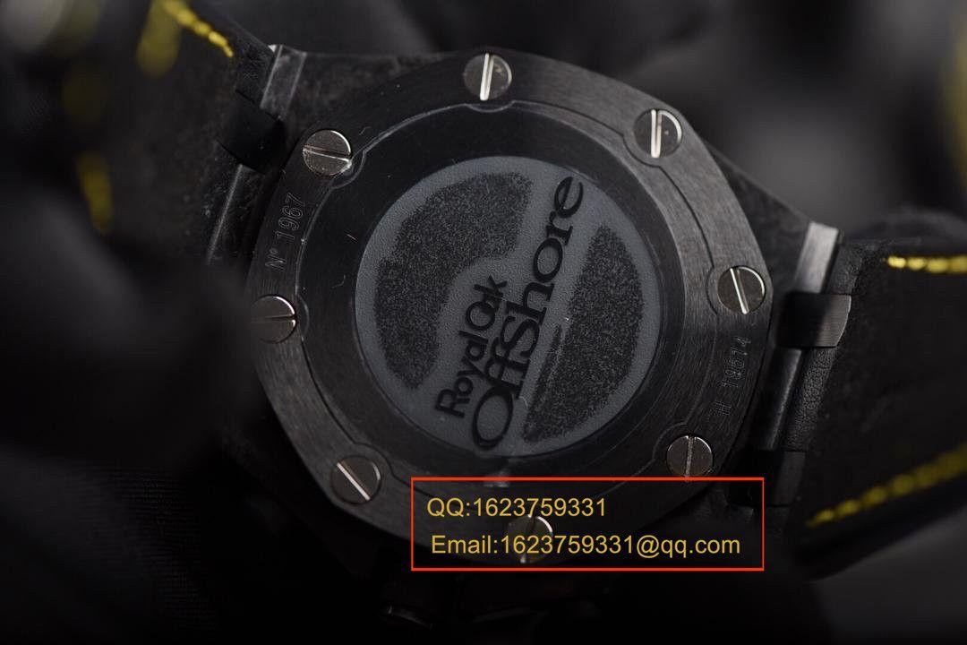 【独家视频评测JF一比一超A高仿手表】爱彼皇家橡树离岸型系列26176FO.OO.D101CR.03《爱彼大黄蜂》腕表